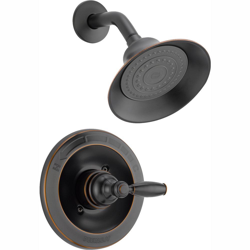 Peerless Claymore Single Handle Shower Faucet Trim Kit in Oil