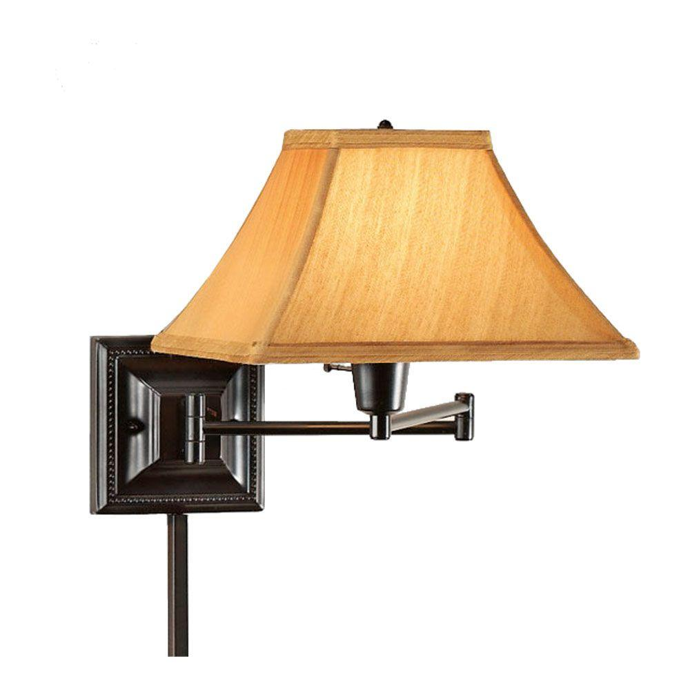 Home Decorators Collection 1-Light Bronze/Copper Kingston Swing-Arm Pin-Up Lamp