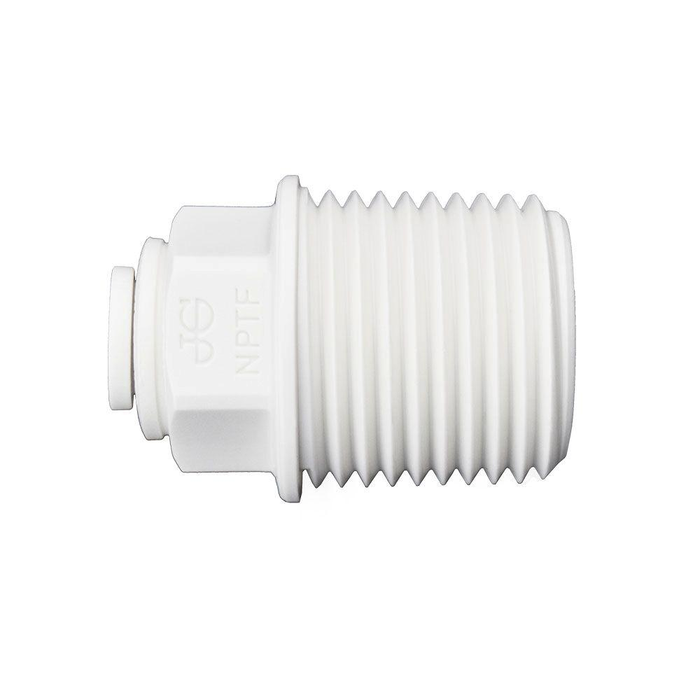 1/4 in. O.D. x 1/2 in. NPTF Polypropylene Push-to-Connect Male Connector