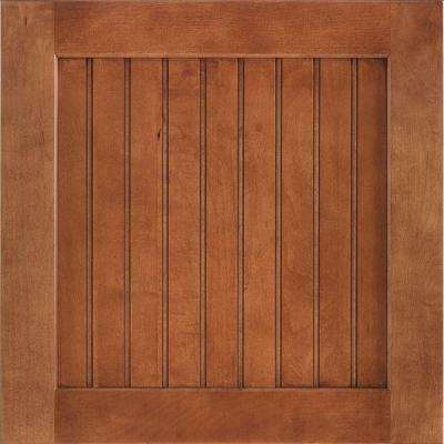 14-9/16x14-1/2 in. Shorebrook Maple Cabinet Door Sample in Cognac