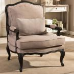 Antoinette Beige Fabric Upholstered Accent Chair