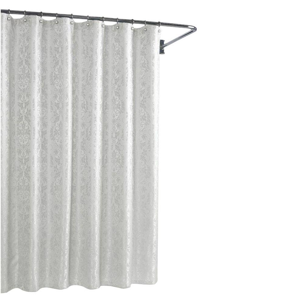 Home Decorators Collection Parisian White 72 in. W Shower Curtain