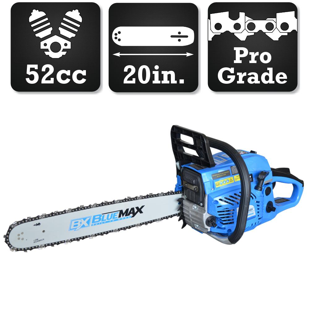 Blue max 20 in 52cc gas chainsaw 53543 the home depot 52cc gas chainsaw greentooth Images