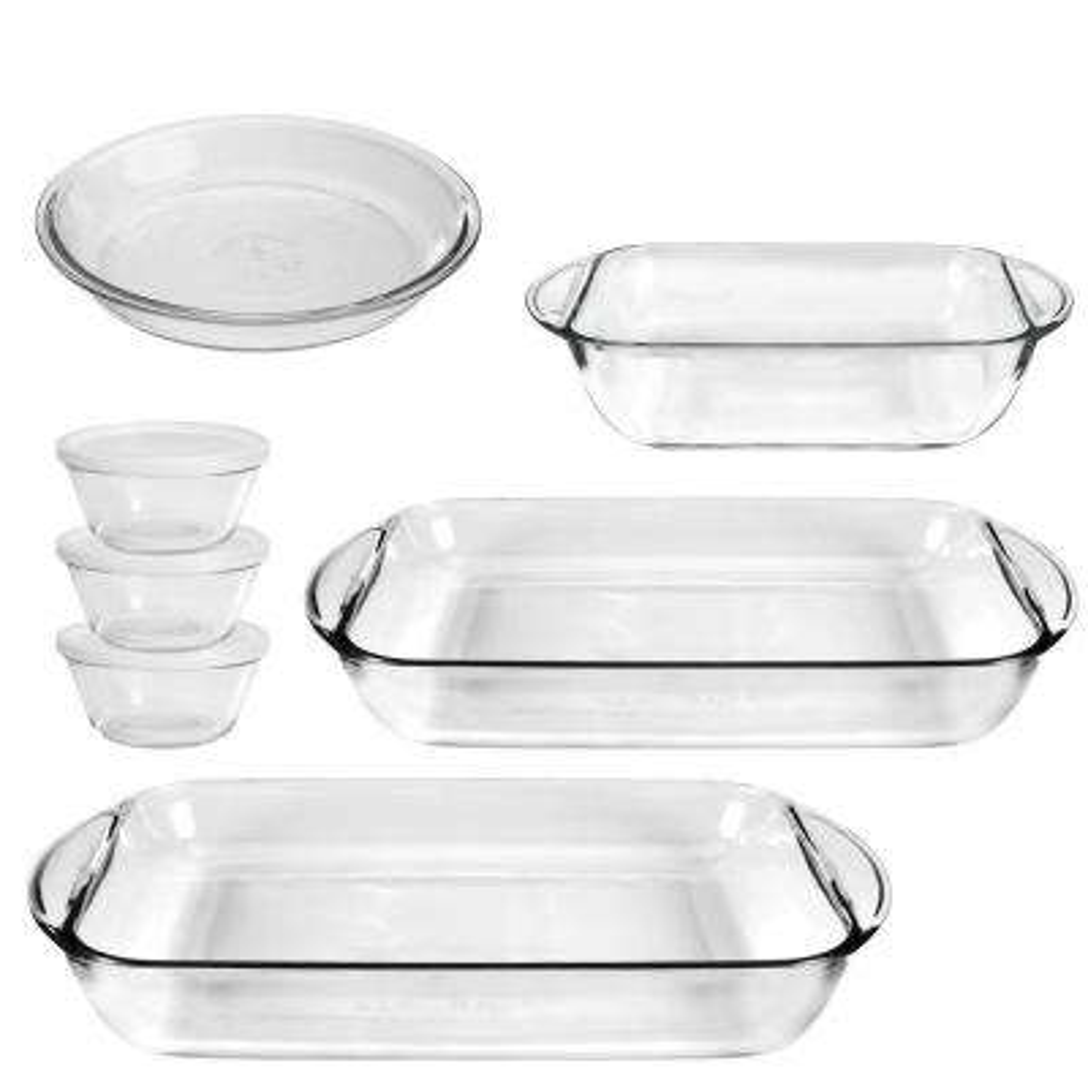 Anchor 10-Piece Clear  Bakeware Set