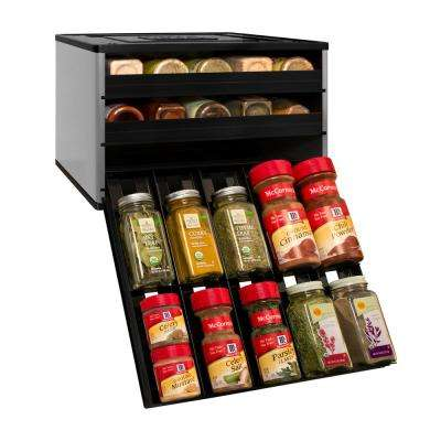 Chef's Edition SpiceStack 30-Bottle Spice Organizer in Silver