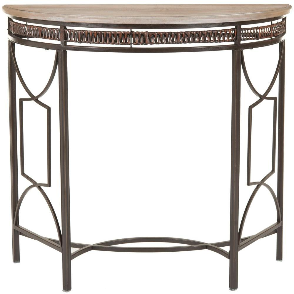 Safavieh rosalie copper and red maple console table amh6581a the safavieh rosalie copper and red maple console table amh6581a the home depot geotapseo Image collections
