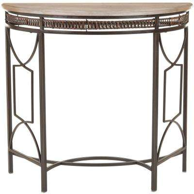 Rosalie Copper and Red Maple Console Table