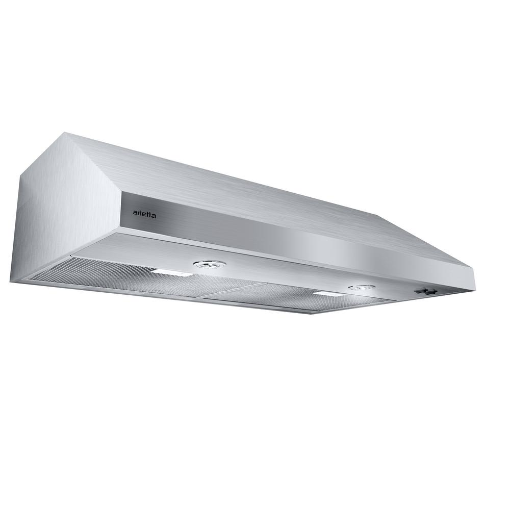 Arietta Segrino 30 In. Under Cabinet Range Hood In Stainless Steel