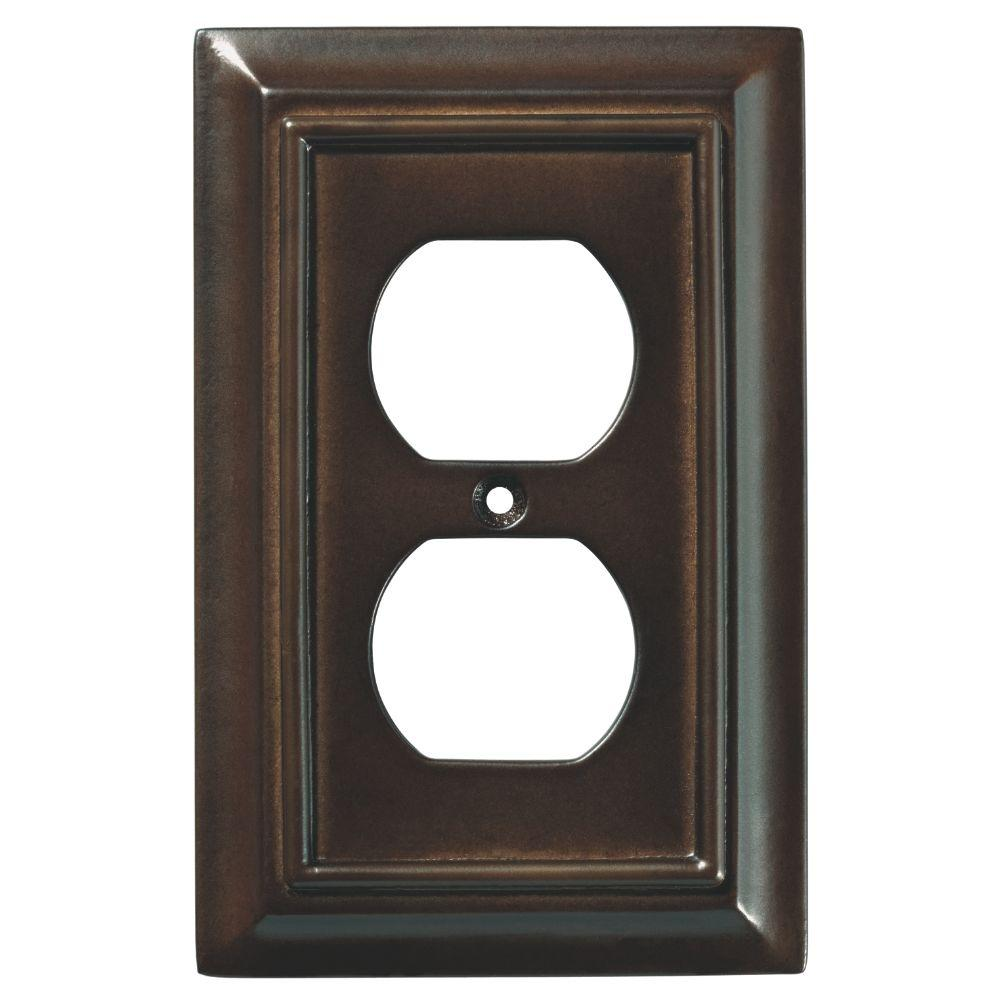 4936a270004 Liberty Architectural Wood Decorative Single Duplex Outlet Cover ...