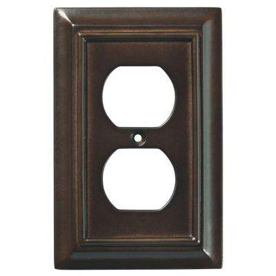 Architectural Wood Decorative Single Duplex Outlet Cover, Espresso