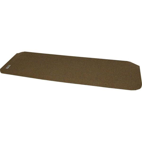 1.25 in. High x 42 in. Wide Recycled Polymer Dusted Cappuccino Threshold Wheelchair Ramp
