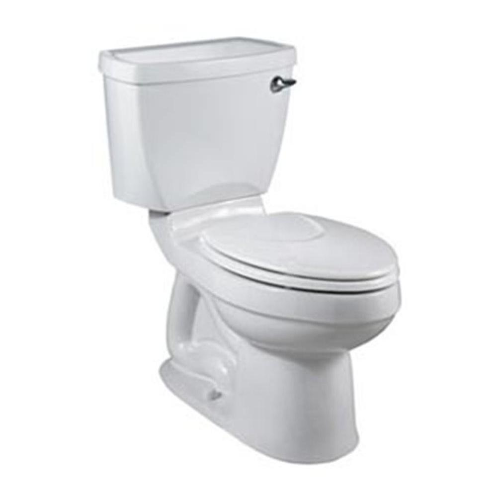 American Standard Champion 4 2-piece 1.6 GPF Right Height Elongated Toilet Less Seat in White