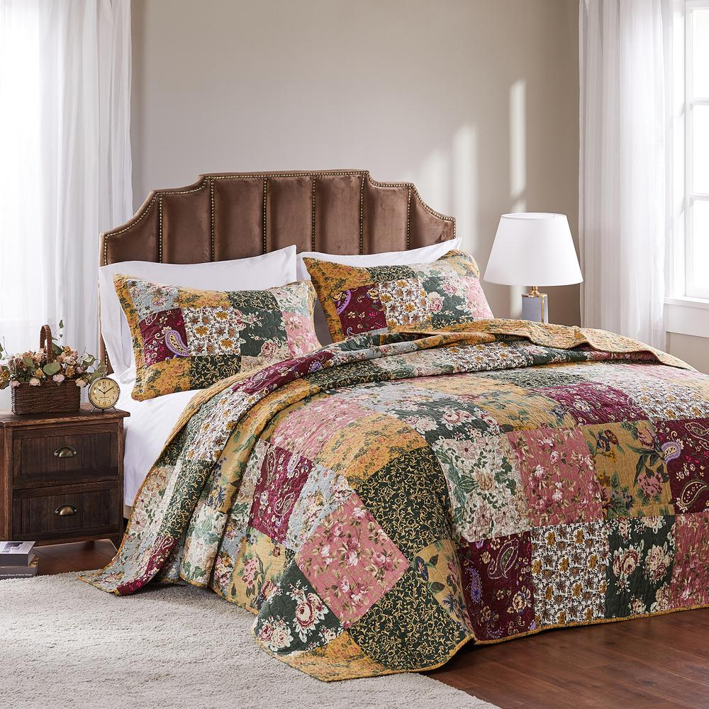 Antique Chic 3-Piece Queen Bedspread Set
