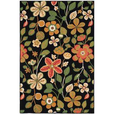 Four Seasons Black/Multi 8 ft. x 10 ft. Area Rug