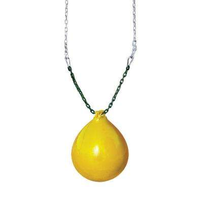 Yellow Buoy Ball with Chain and Spring Clips