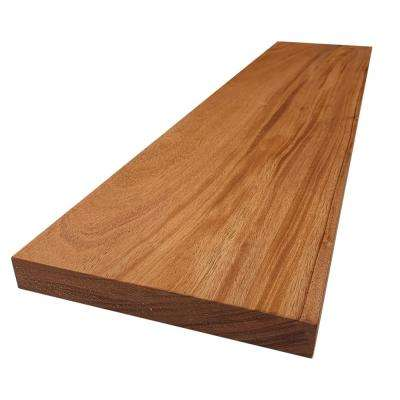 2 in. x 12 in. x 8 ft. African Mahogany S4S Board