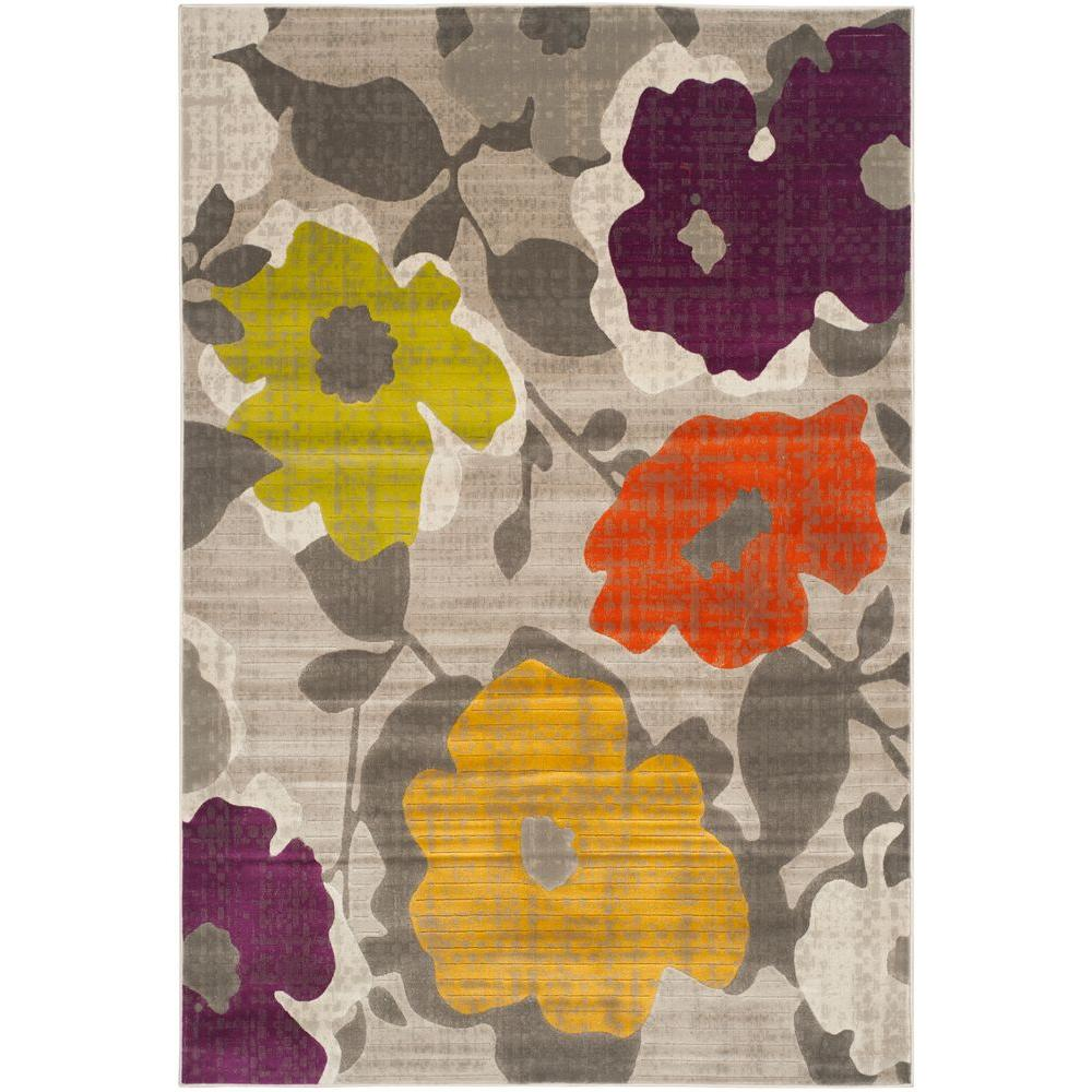 Bath Rugs Yellow Grey: Safavieh Porcello Grey/Yellow 5 Ft. X 8 Ft. Area Rug