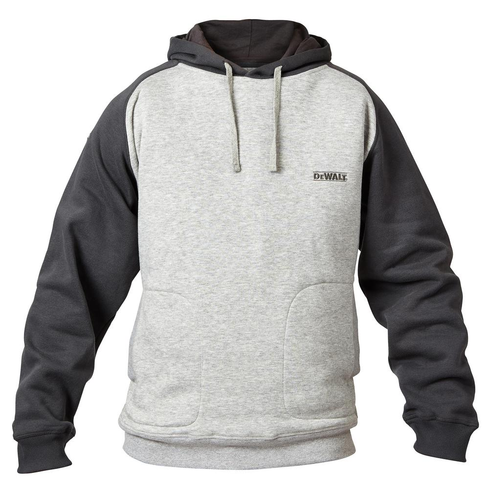 7b3139764689 DEWALT Cyclone Men s Large Heather Gray Black Polyester Cotton Hooded  Sweatshirt
