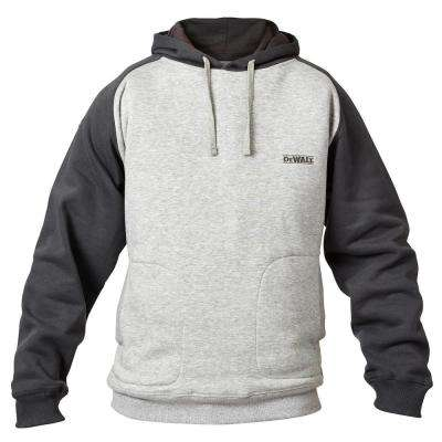 Cyclone Men's Large Heather Gray/Black Polyester/Cotton Hooded Sweatshirt
