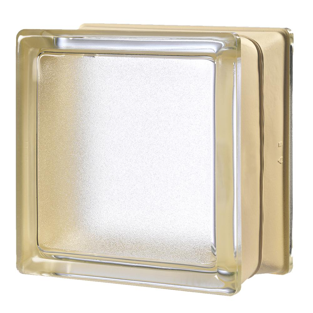 MyMINIGLASS Vanilla 5.75 in. x 5.75 in. x 3.15 in. Classic Ivory Glass Block (6-Pack)