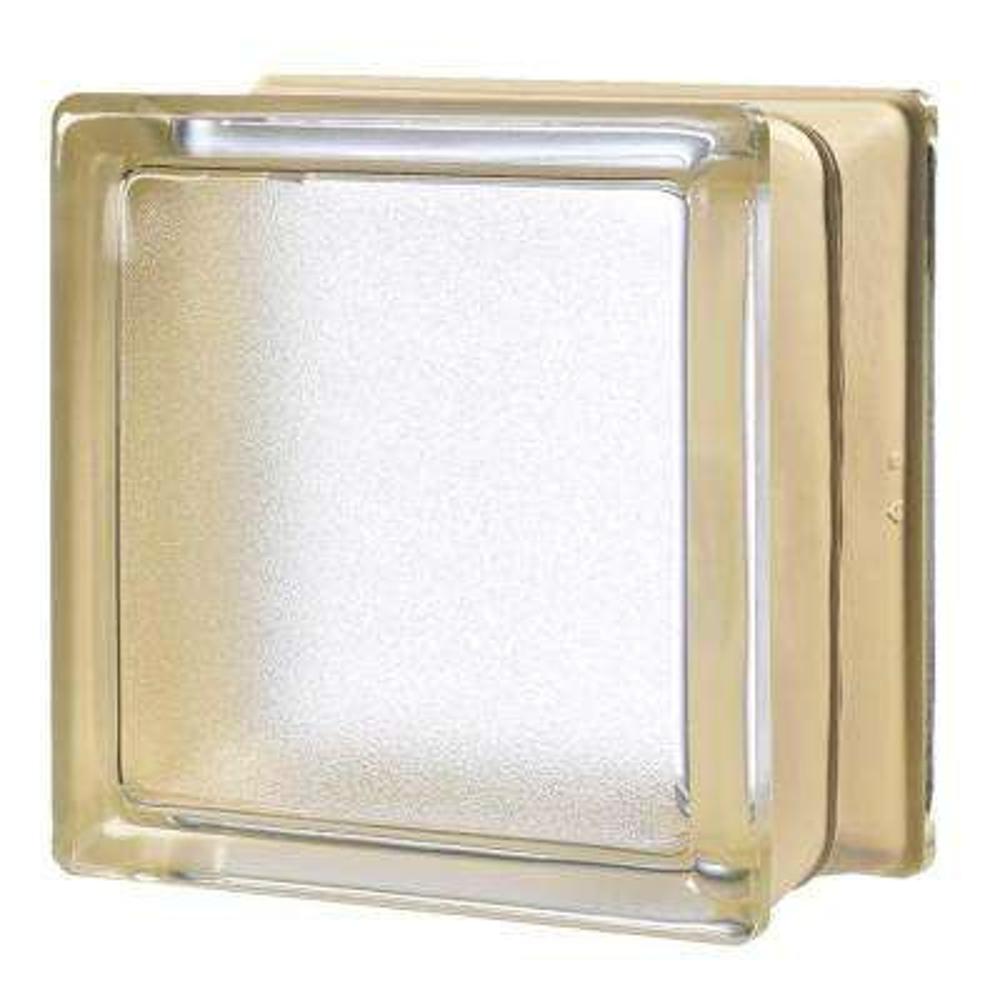 Vanilla 5.75 in. x 5.75 in. x 3.15 in. Classic Ivory Glass Block (6-Pack)