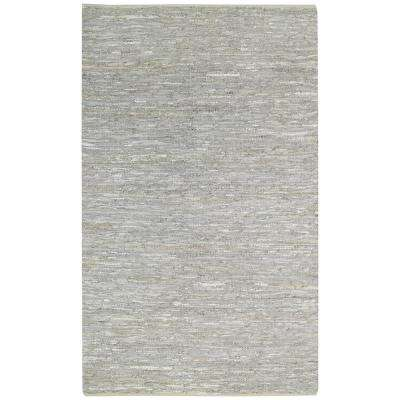 Zions View Silver Grey 7 ft. x 9 ft. Flat Area Rug