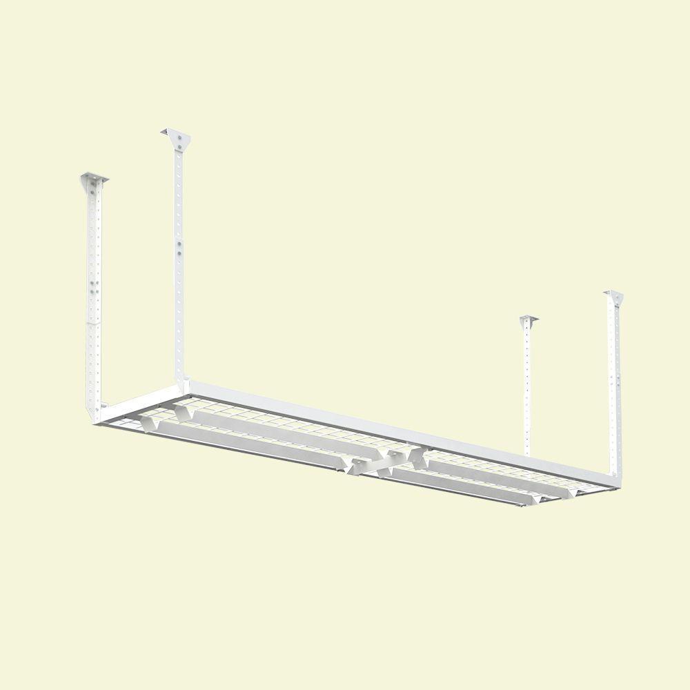 96 in. W x 24 in. D Adjustable Height Garage Ceiling Mount Storage Unit