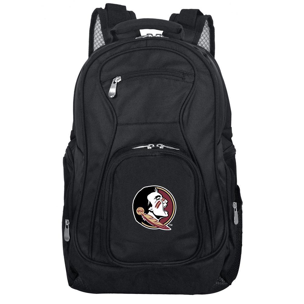 Denco NCAA Florida State Black Backpack Laptop
