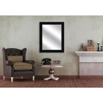 31.5 in. x 25.5 in. Black Framed Mirror