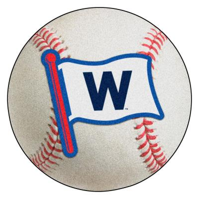 MLB - Chicago Cubs 27 in. Photorealistic 27 in. Round Baseball Mat
