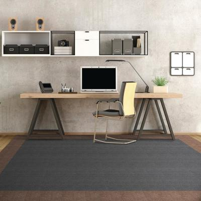 Peel and Stick First Impressions High Low Rib Mocha Texture 24 in. x 24 in. Commercial Carpet Tile (15 Tiles/Case)