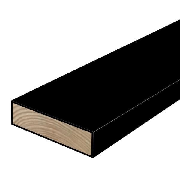 2 in. x 6 in. x 8 ft. #2 Polymer Coated Black Treated Lumber