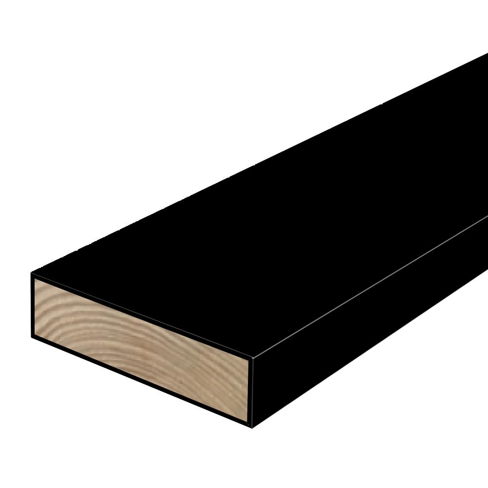 Woodguard 2 in x 6 in x 8 ft 2 polymer coated black for Brown treated deck boards