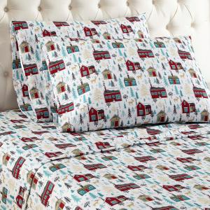 3-Piece Cabins Twin Sheet Set by