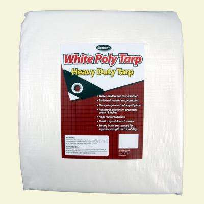 8 ft. x 20 ft. White Heavy Duty Tarp
