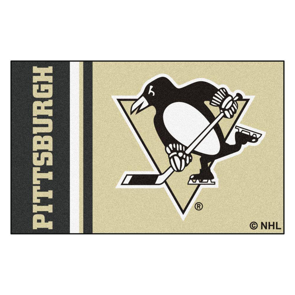 NHL - Pittsburgh Penguins Cream 2 ft. x 3 ft. Indoor Area Rug