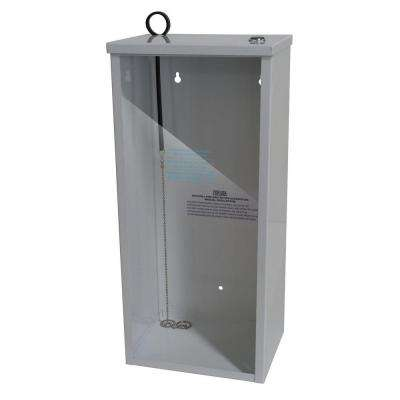 18.20 in. H x 8.4 in. W x 6.38 in. D 2.0 - 2.6 lbs. Steel Surface Mount Fire Extinguisher Cabinet in White