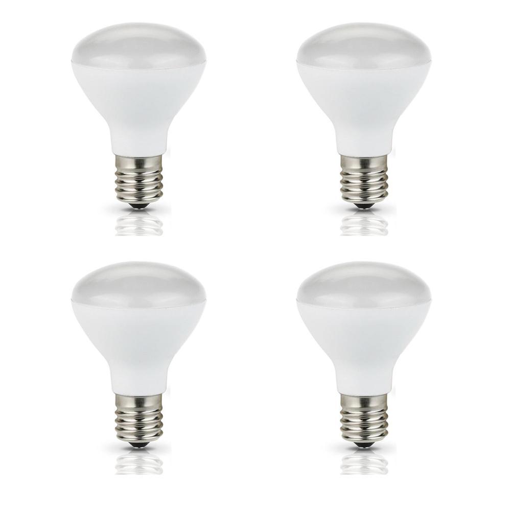 triglow 25 watt equivalent r14 mini reflector e17 base led light bulbs 4 pack t90221 4 the. Black Bedroom Furniture Sets. Home Design Ideas