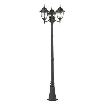 Central Square 3-Light Charcoal Outdoor Post Lamp