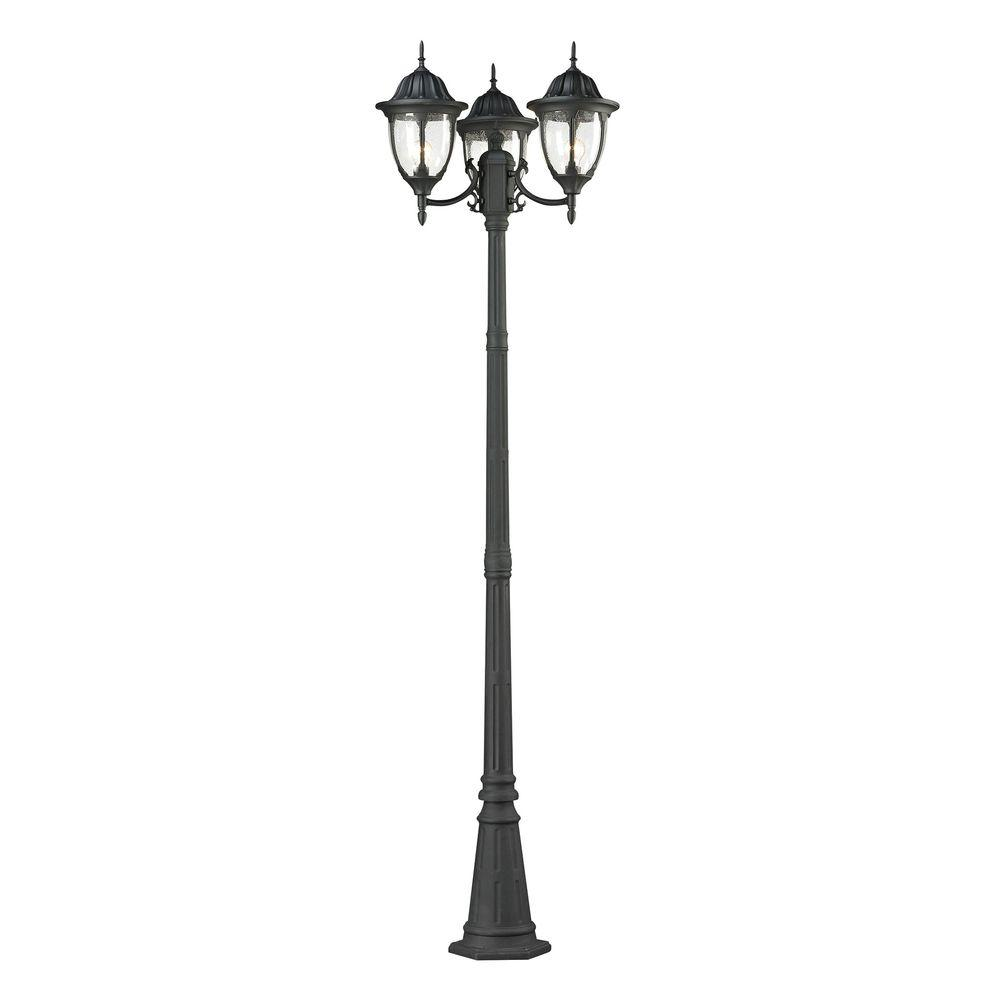 Home Depot Exterior Street: Titan Lighting Central Square 3-Light Charcoal Outdoor