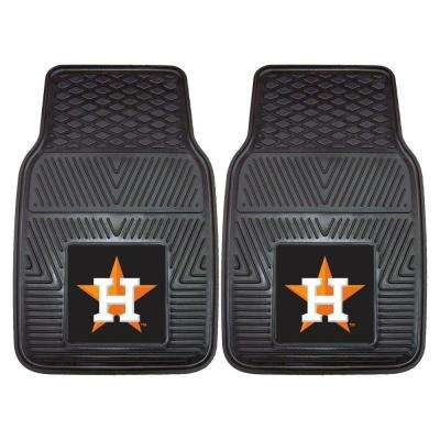 Houston Astros 18 in. x 27 in. 2-Piece Heavy Duty Vinyl Car Mat