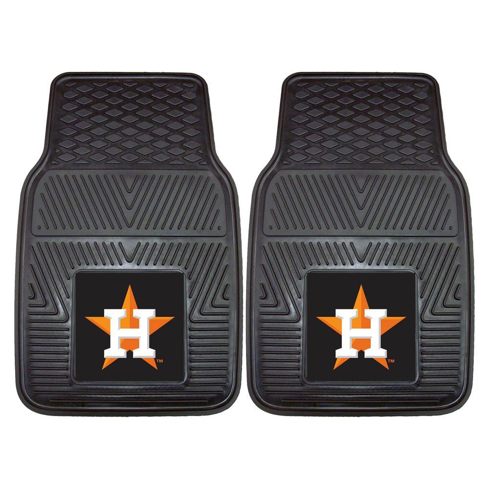 Houston Astros 18 in. x 27 in. 2-Piece Heavy Duty Vinyl Car Mat