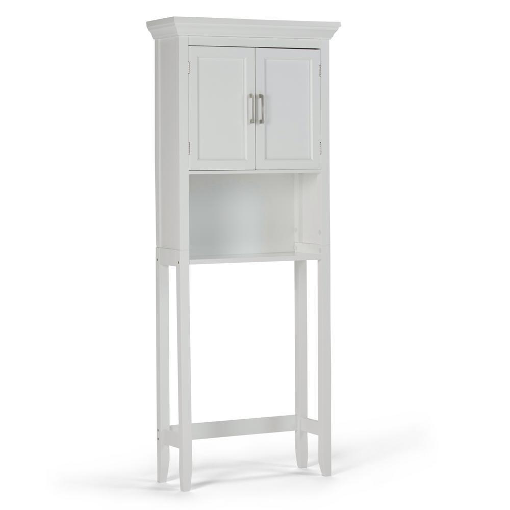 Mia 27 in. W x 67 in. H Space Saver Bath Cabinet in Pure White
