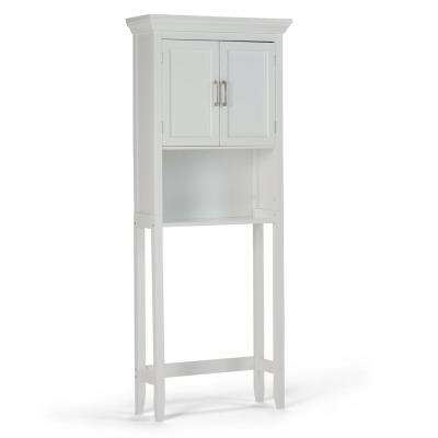 Avington 27 in. W x 67 in. x 10 in. D Over the Toilet Storage Cabinet with Adjustable Shelves in White