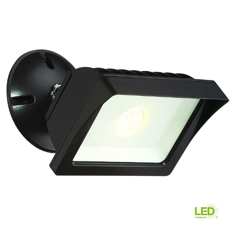 EnviroLite Bronze Outdoor LED Adjustable Single-Head Flood
