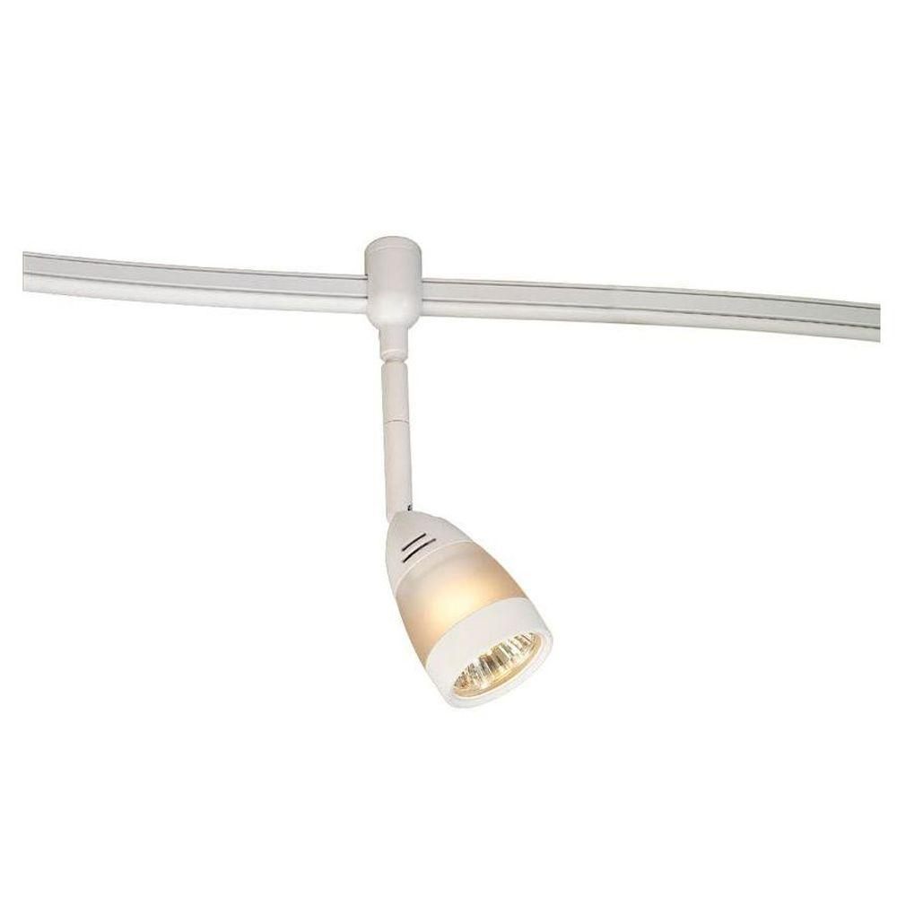 120-Volt Flexible White Track Lighting Head