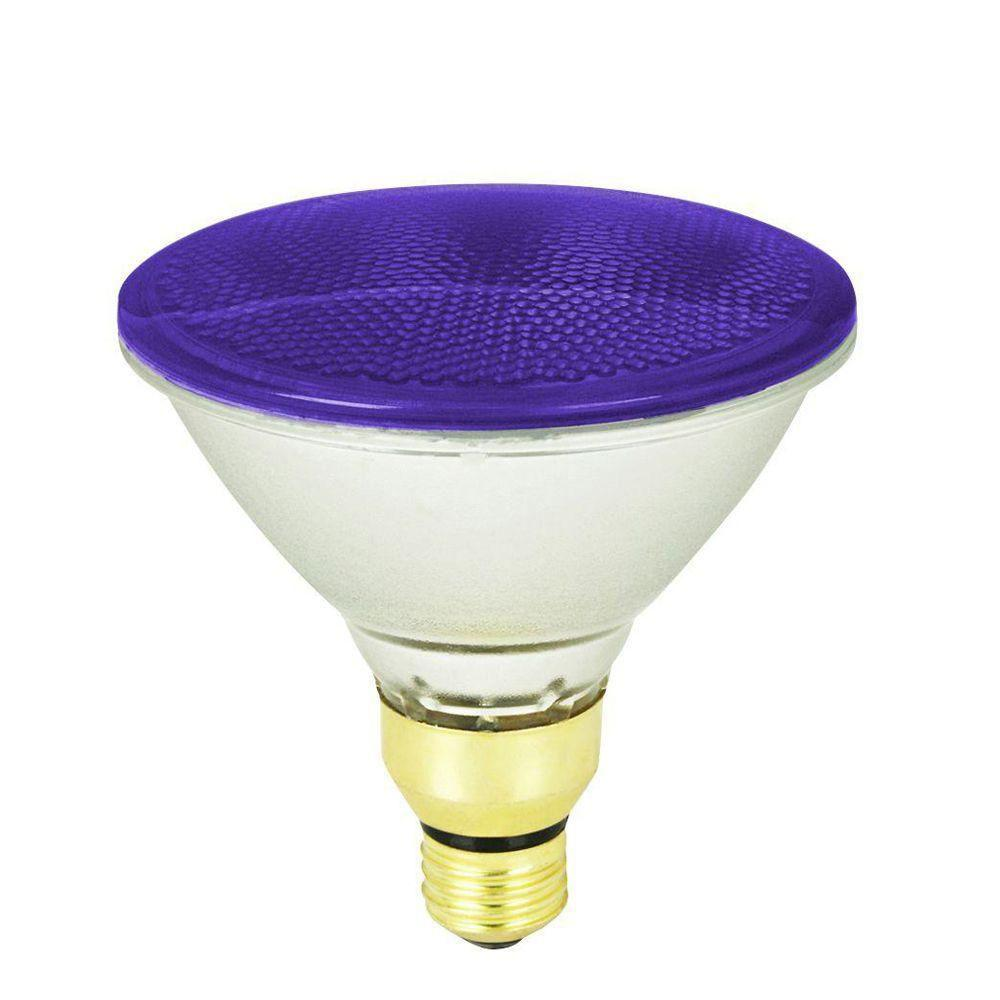 Feit Electric 90-Watt Purple PAR38 Dimmable Halogen Flood Light Bulb (Case of 12)