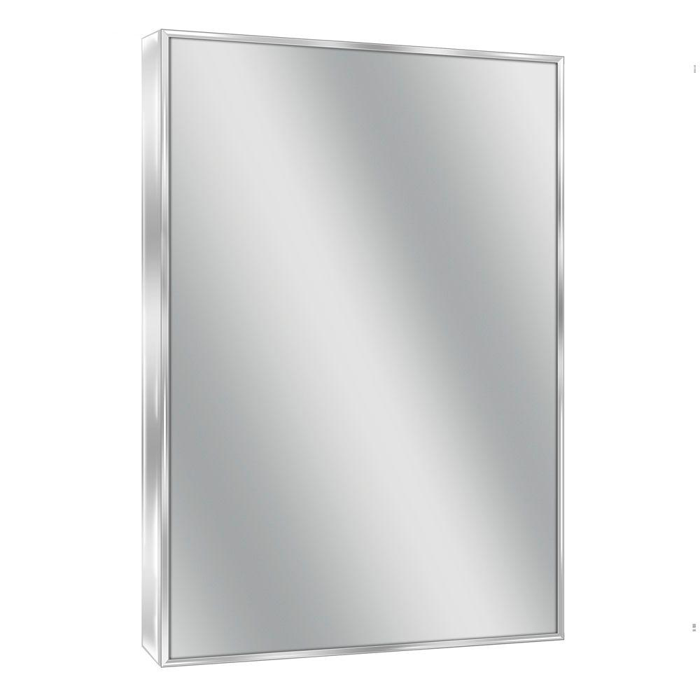 Deco Mirror 24 in. W x 30 in. H Spectrum Metal Single Framed Mirror in Bright Chrome
