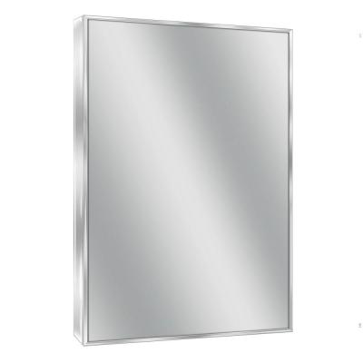 24 in. W x 30 in. H Spectrum Metal Single Framed Mirror in Bright Chrome