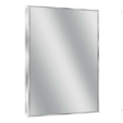 H Spectrum Metal Single Framed Mirror In Bright